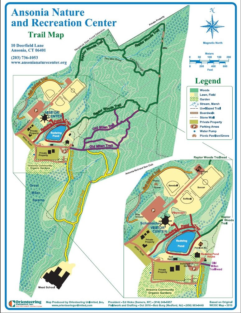 Ansonia Nature Center Trail Map