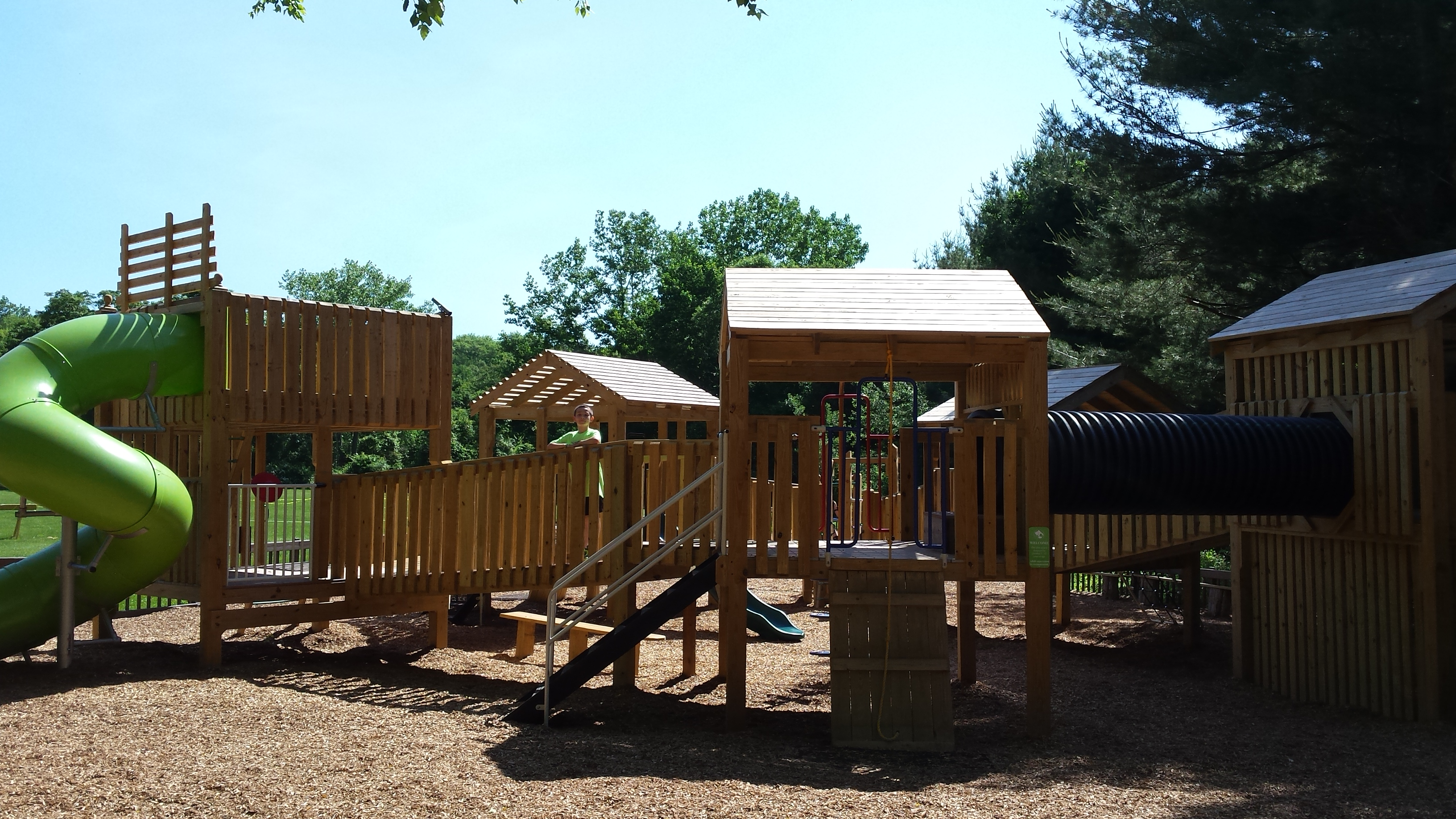 Enjoy our large, wooden playground!